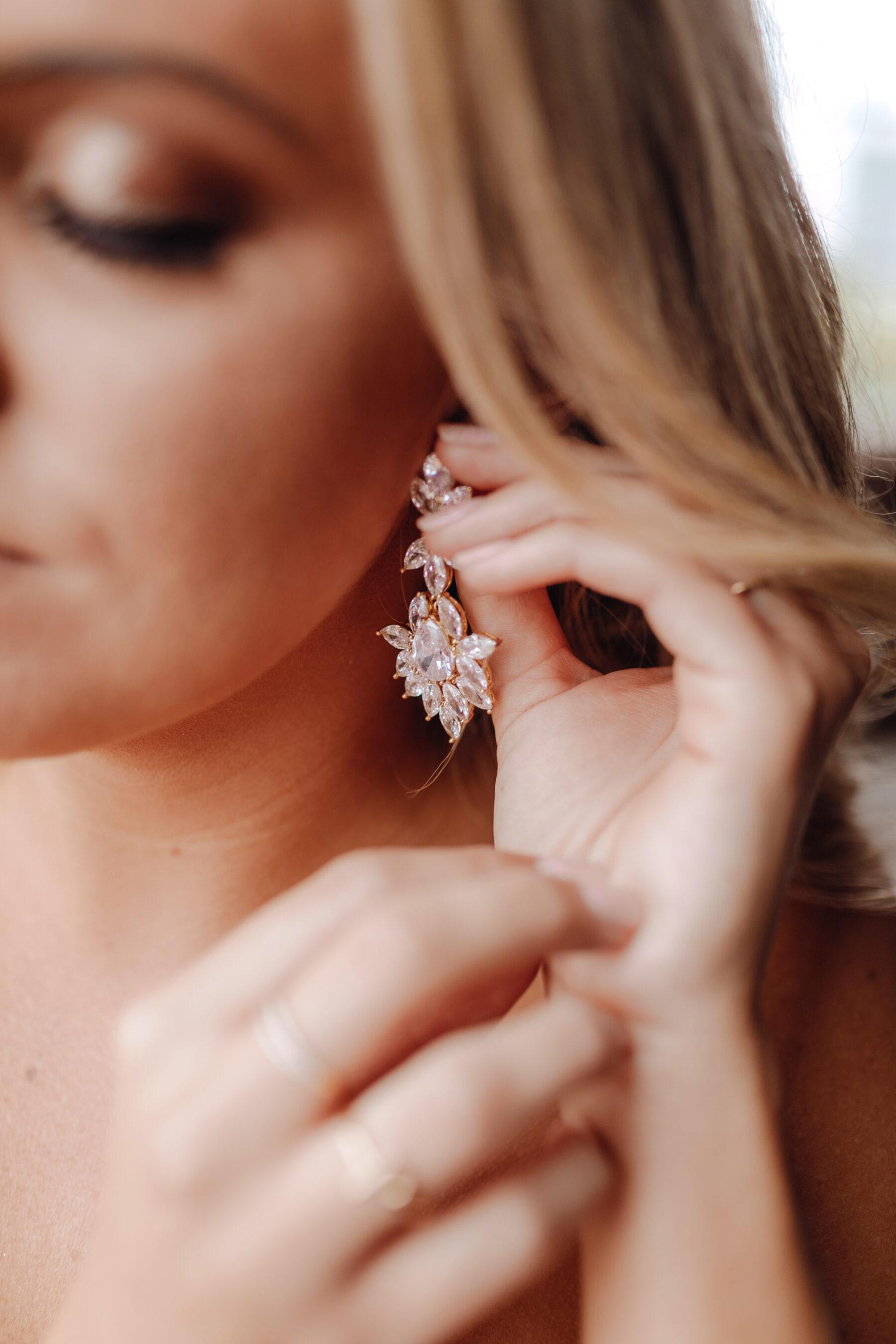 Embellished wedding earrings