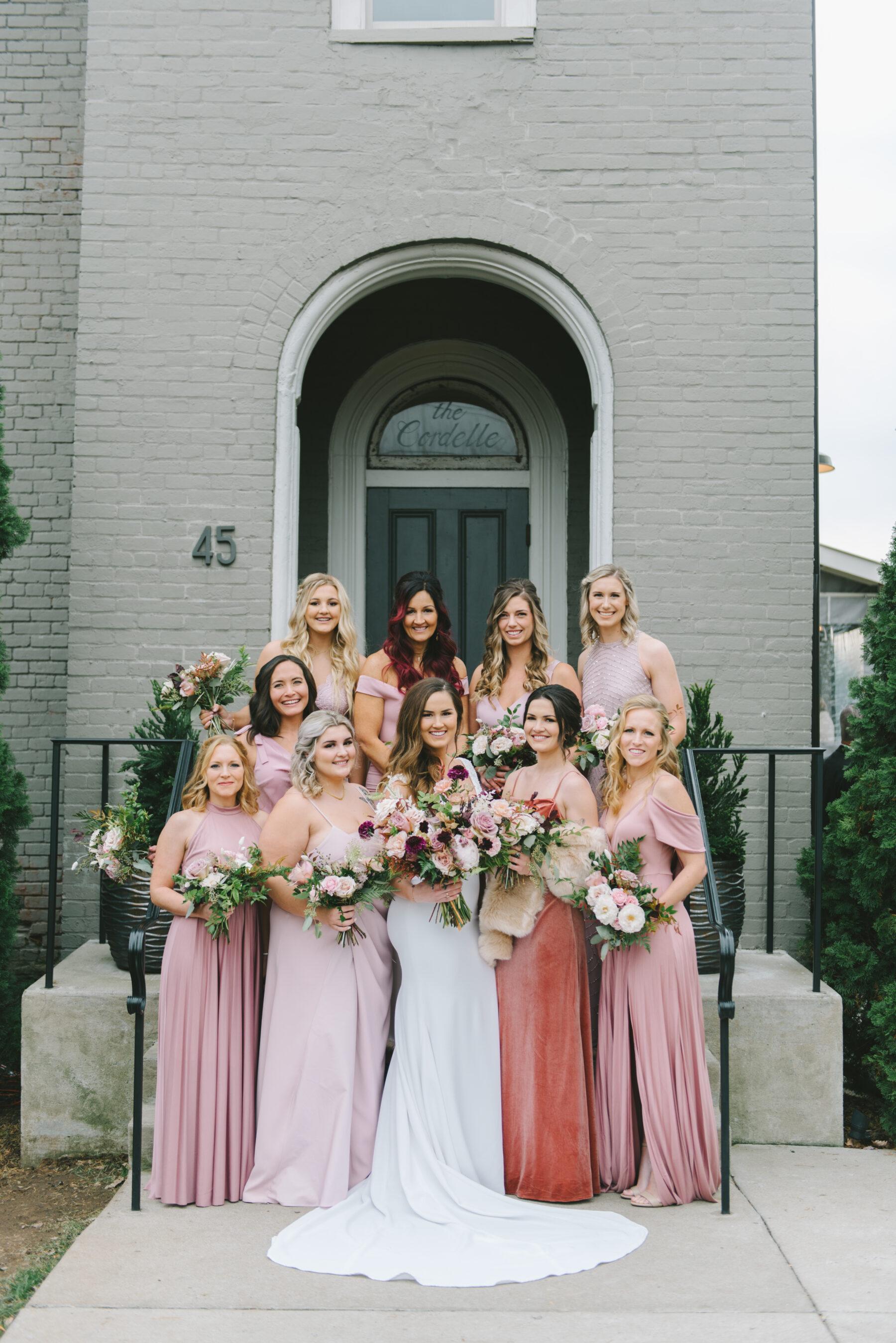 Shades of Pink Bridesmaid Dresses   Nashville Bride Guide