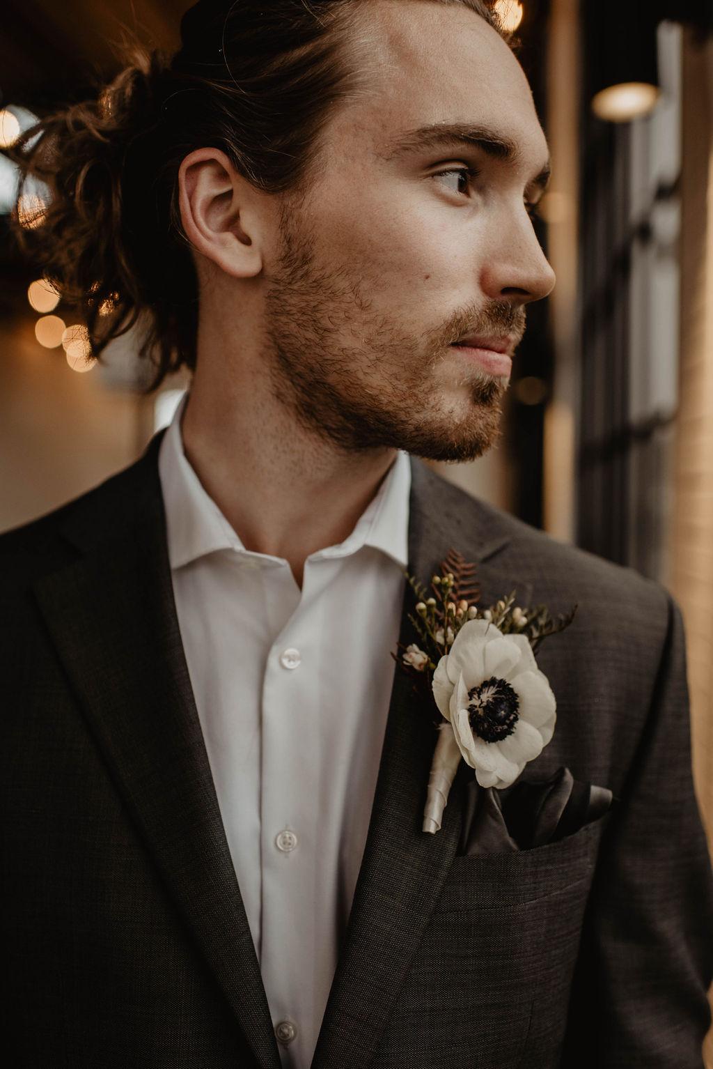 White wedding boutonniere   Nashville Bride Guide