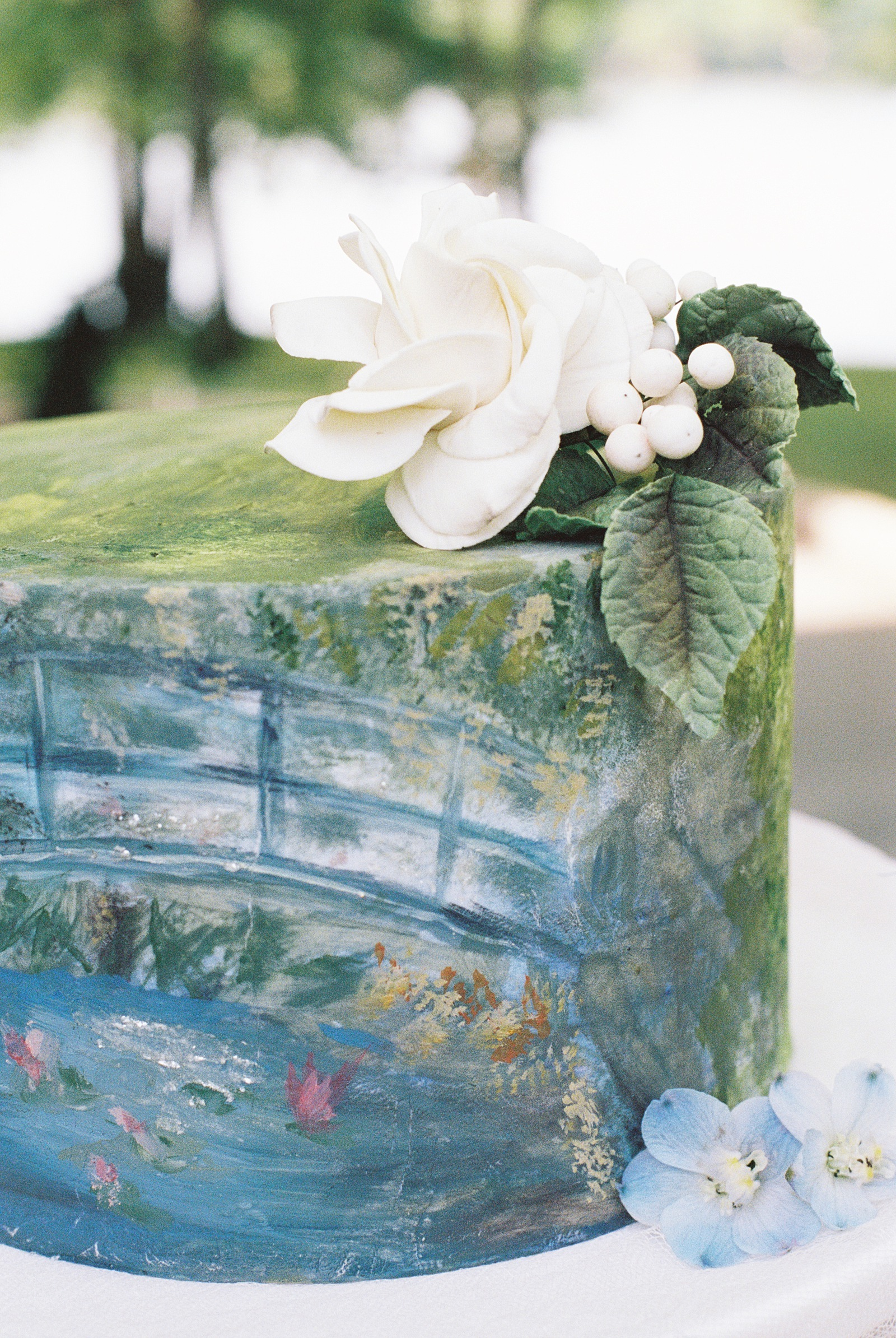 Watercolor wedding cake inspiration