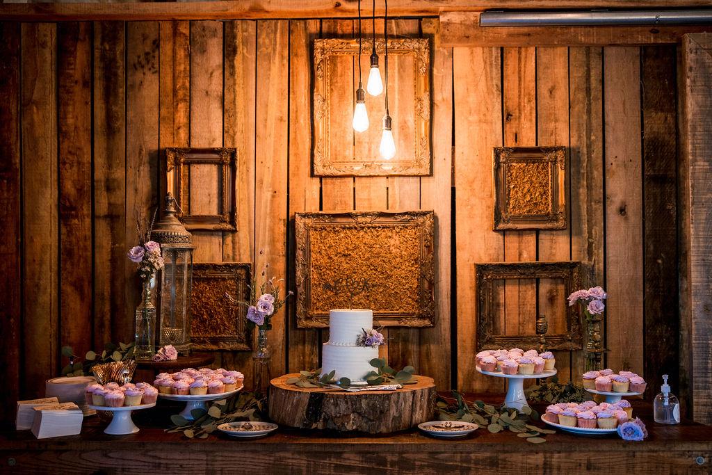 Barn wedding dessert display   Nashville Bride Guide