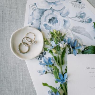 French blue wedding stationery