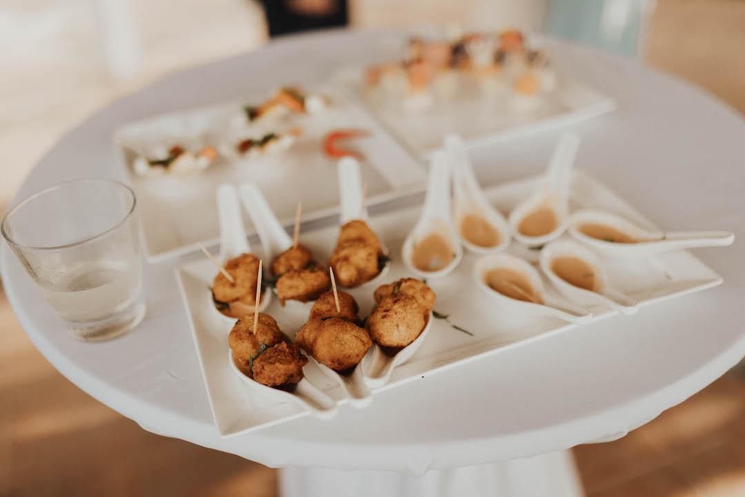 Sandals Ochi wedding reception food