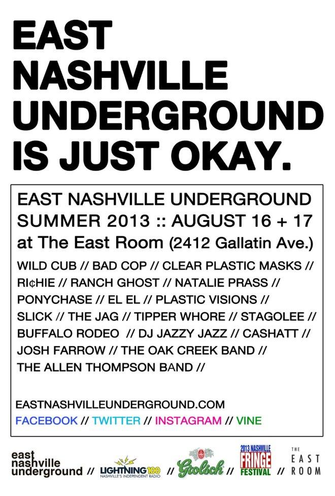 East Nashville Underground Summer 2013