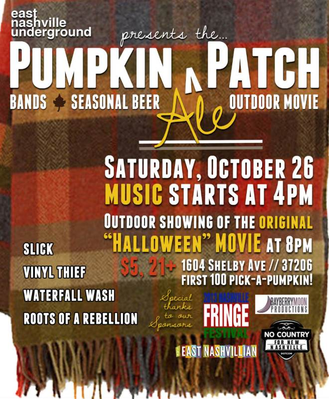 East Nashville Underground's Pumpkin-Ale-Patch Party