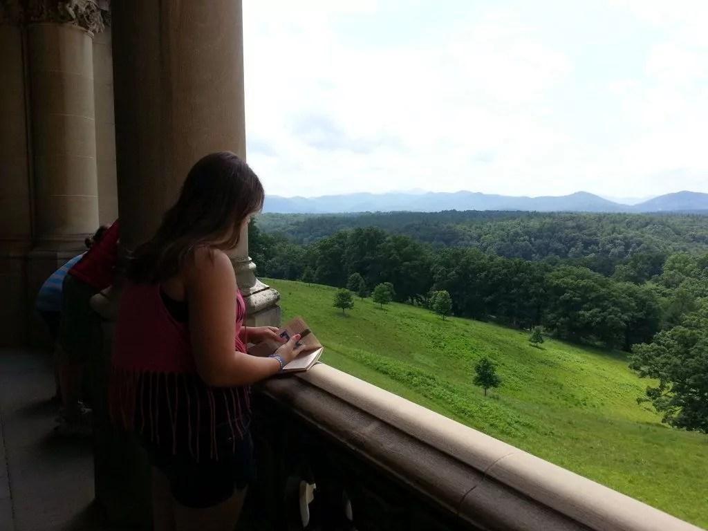 Enjoying the Biltmore's view