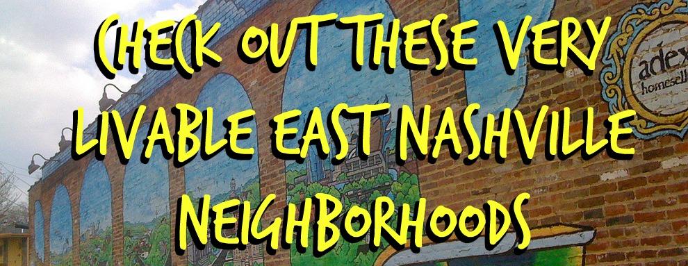 Popular East Nashville Neighborhoods