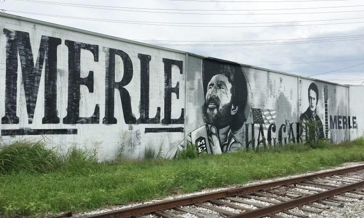 Merle Haggard mural Nashville street art