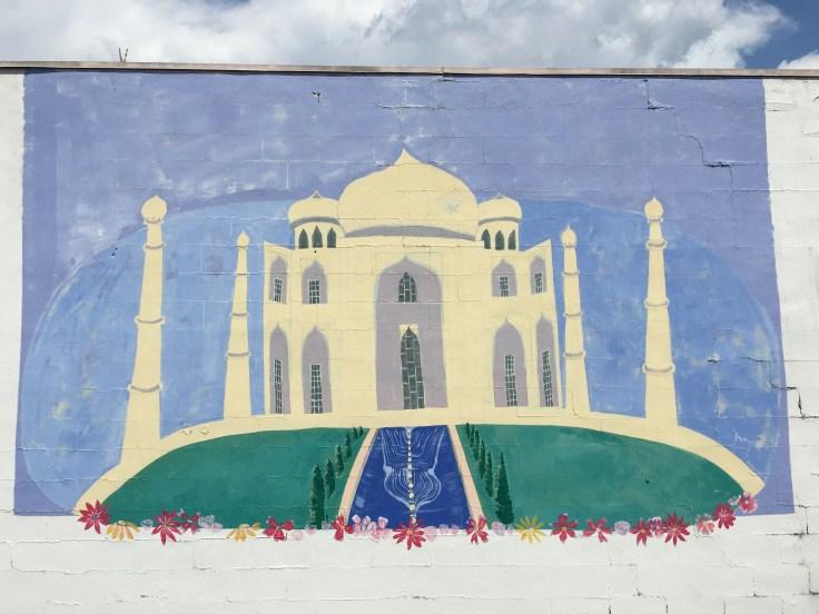 Taj Mahal mural street art Nashville