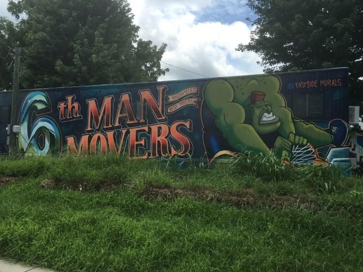 Hulk mural street art Nashville