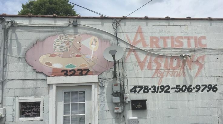 Street art sign mural East Nashville