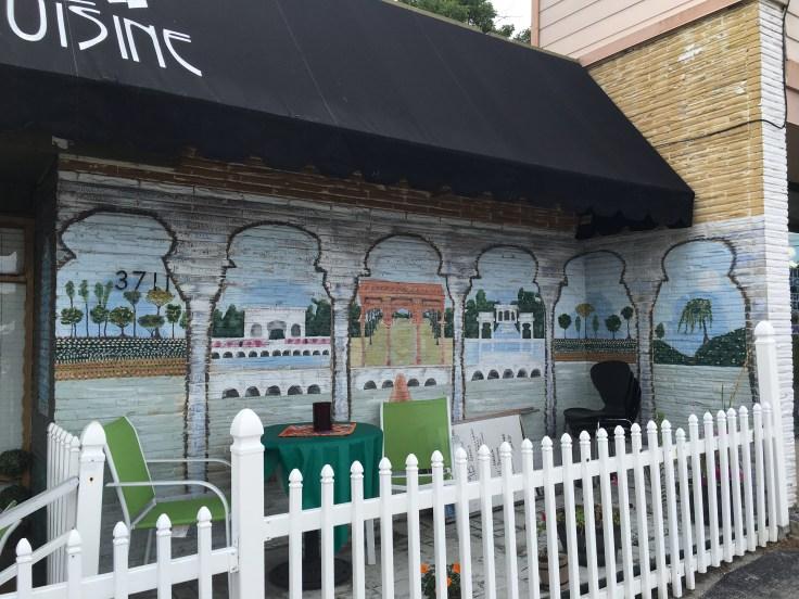 India mural street art Nashville restaurant