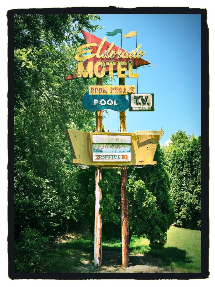 Eldorado Motel sign street art Nashville