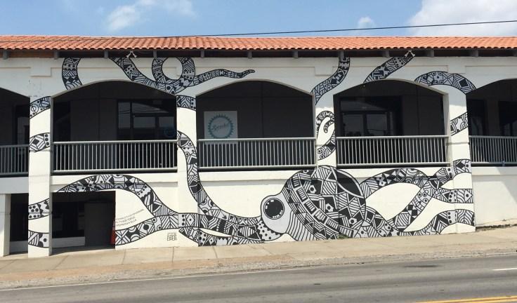 Octopus mural street art Nashville