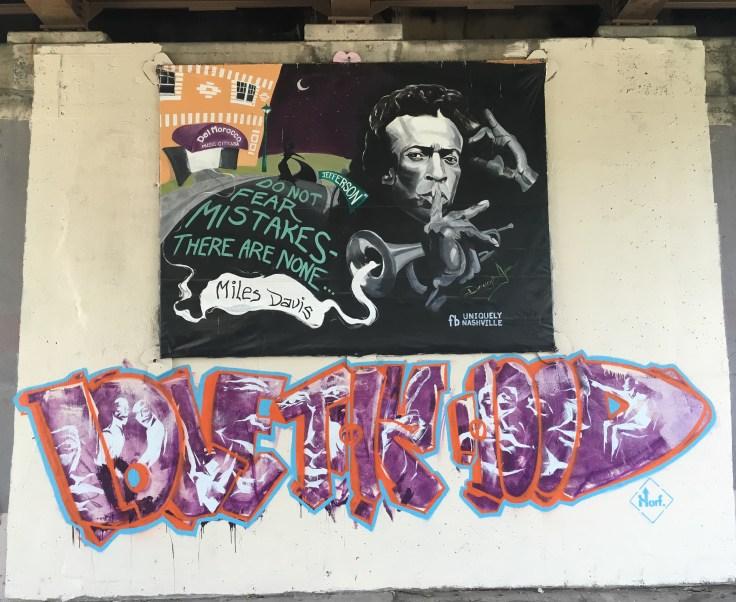 Miles Davis mural street art Nashville