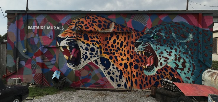 Cheetahs mural street art Nashville