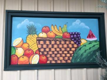 Fruit basket mural street art Nasville