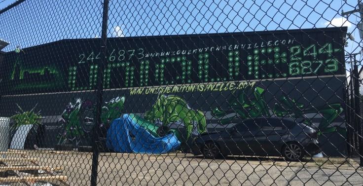Automotive Graffiti mural street art Nashville