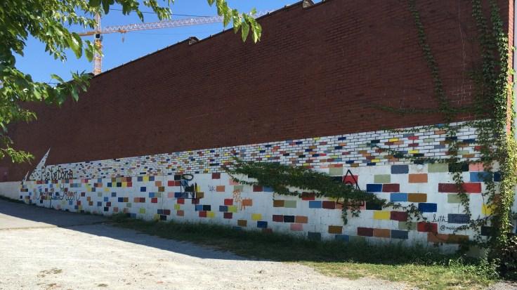 Colored block mural street art Nashville