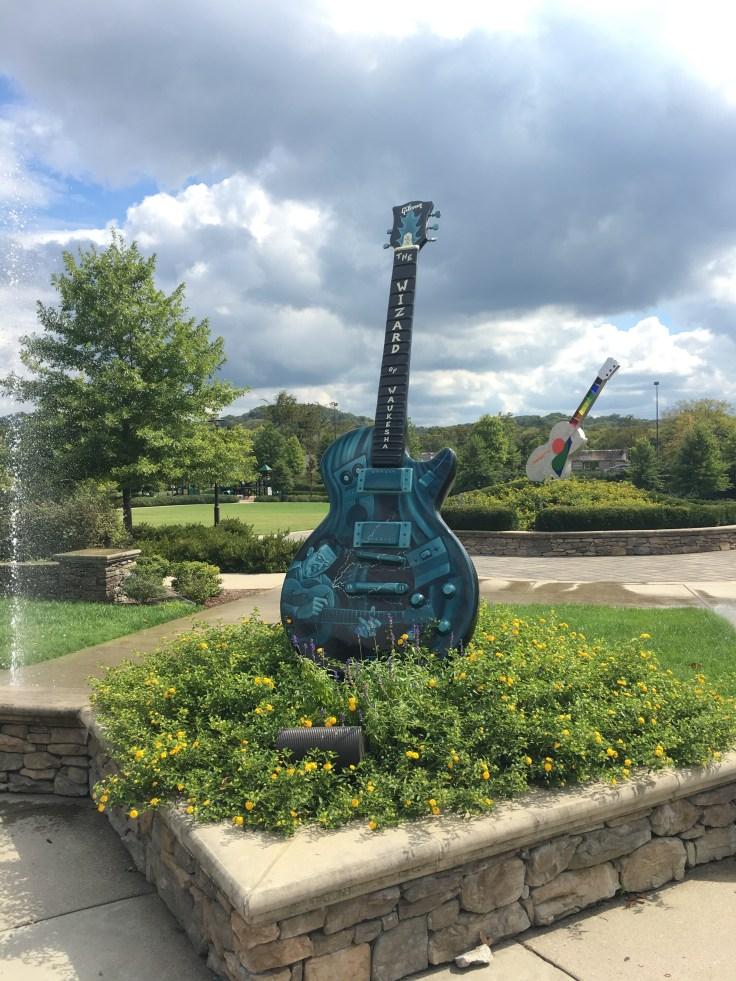 Les Paul guitar statue public art Nashville