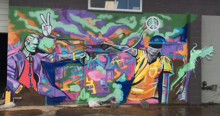 Peace mural street art Nashville