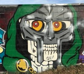 Skull mural street art Nashville