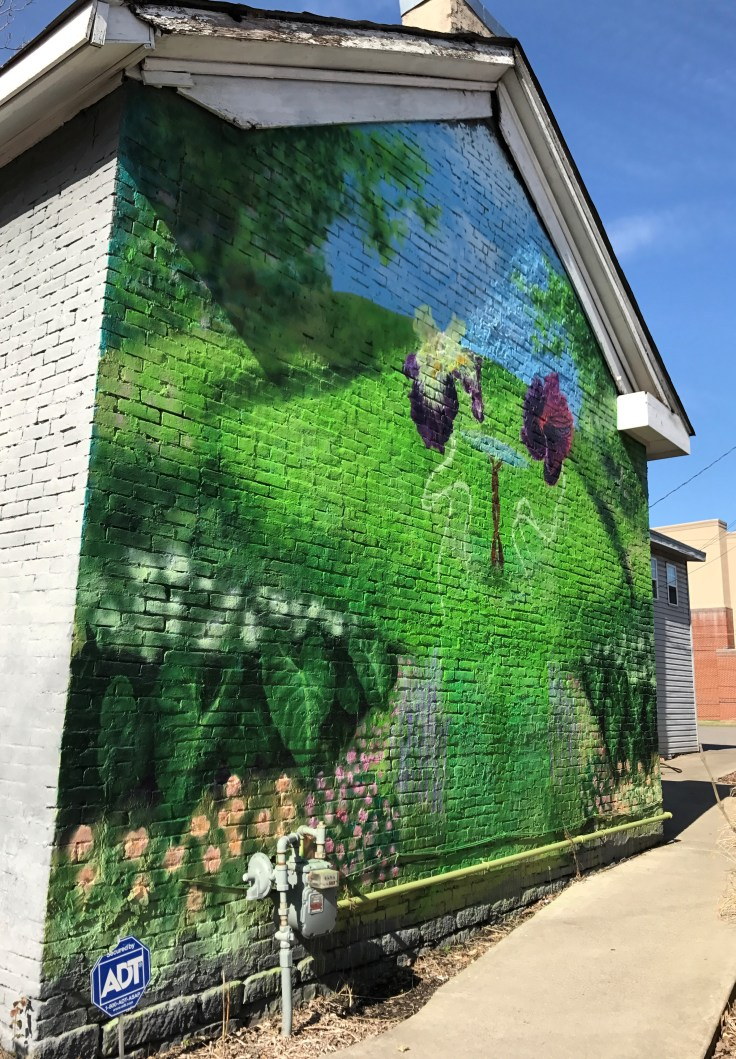 Garden Brunch Cafe mural by Norf Collective
