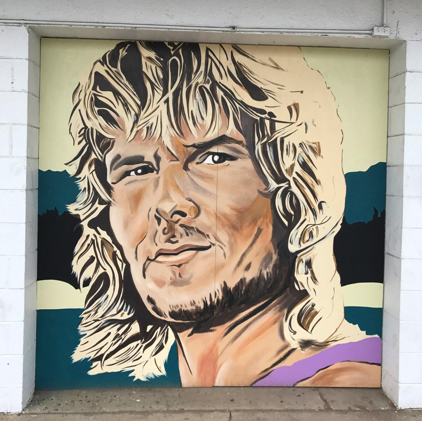 Swayze mural street art Nashville