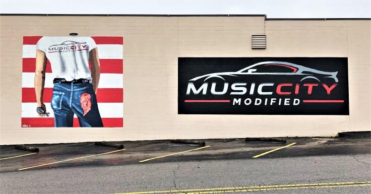 Auto modifier murals street art Nashville