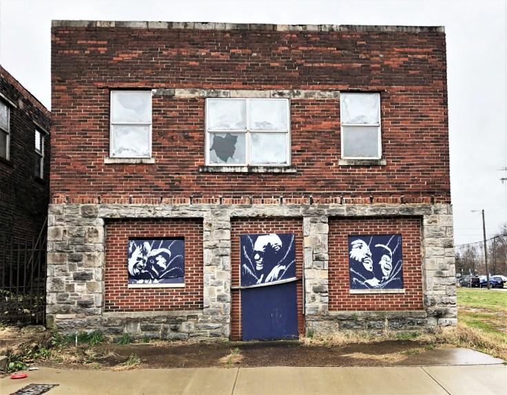 R&B portraits mural street art Nashville