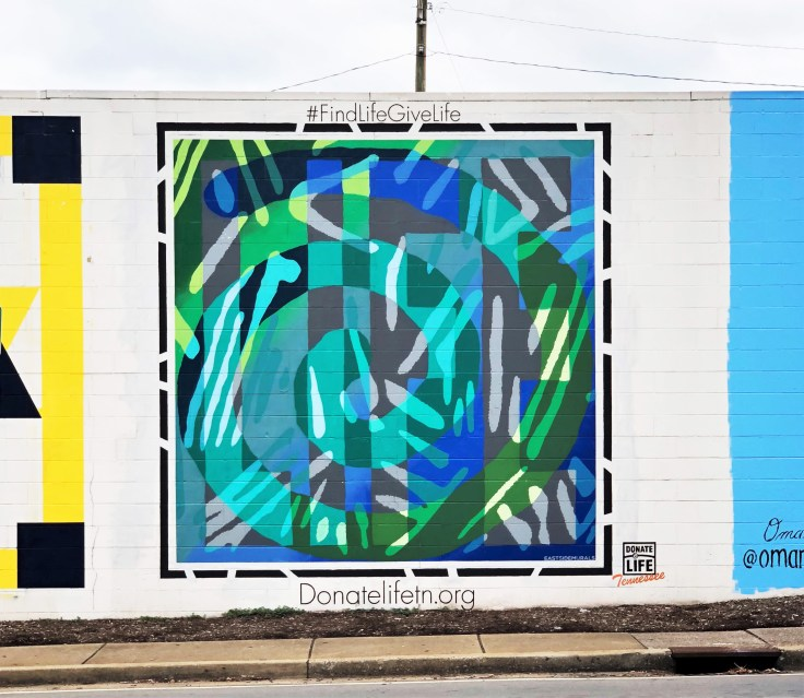 Donate Life mural street art Nashville