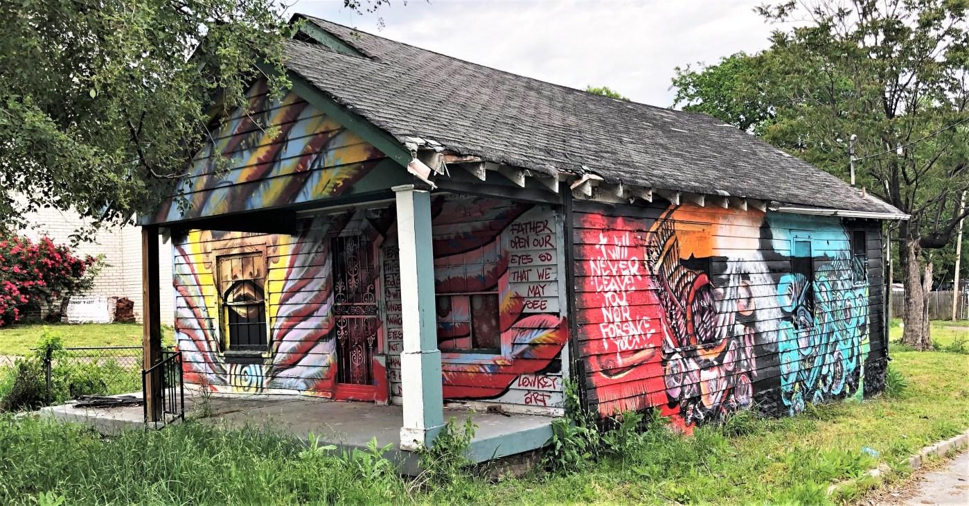 Religious mural street art Nashville