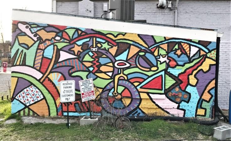 Bike mural street art Nashville