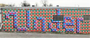 Under mural street art Nashville