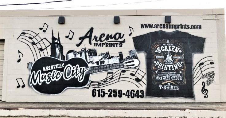 Arena mural street art Nashville