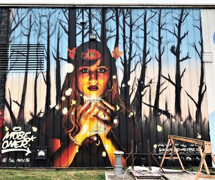 Mobe Oner mural street art Nashville