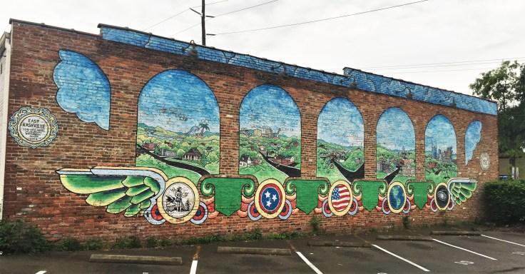 Welcome mural street art Nashville