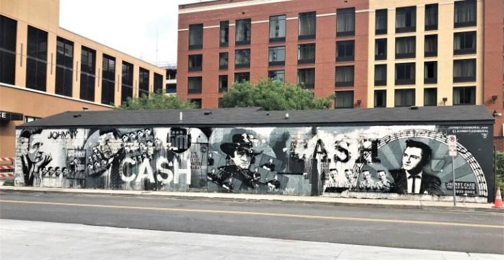 Cash mural street art Nashville