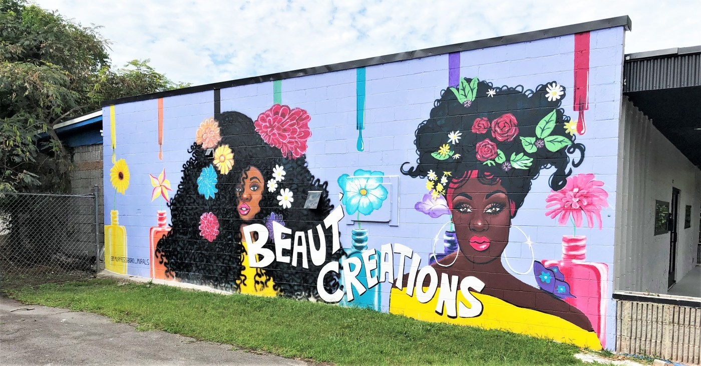 Beaut Creations mural street art Nashville
