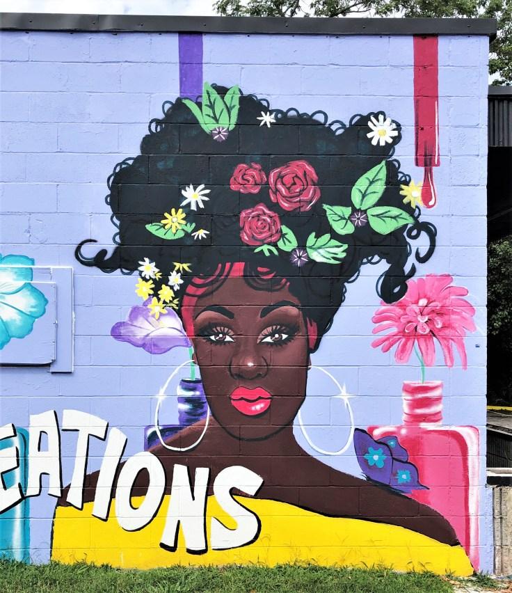 Beaut Portrait mural street art Nashville