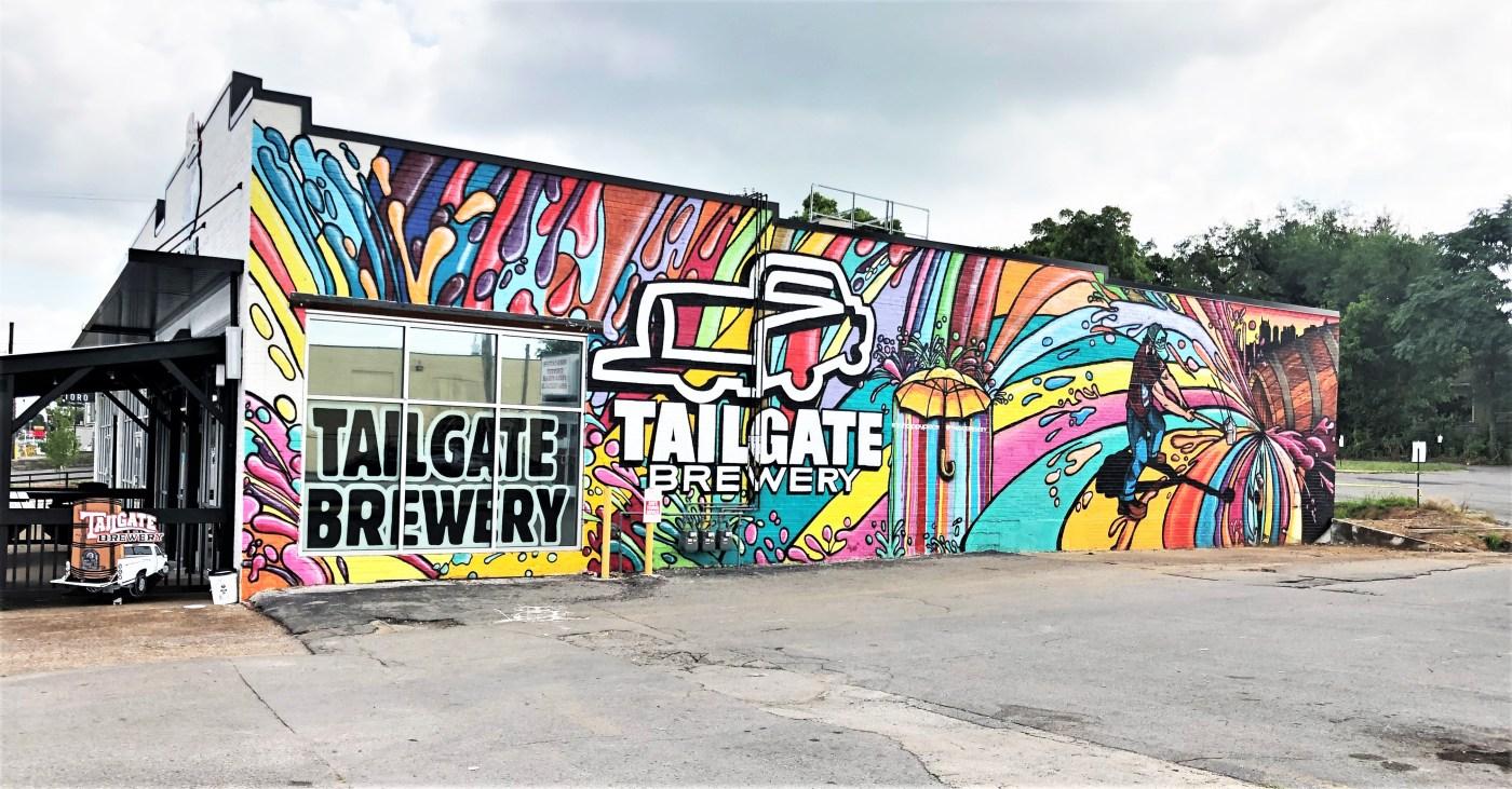 Tailgate mural street art Nashville