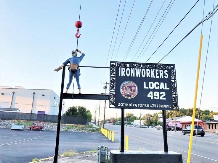Ironworkers sculpture street art Nashville
