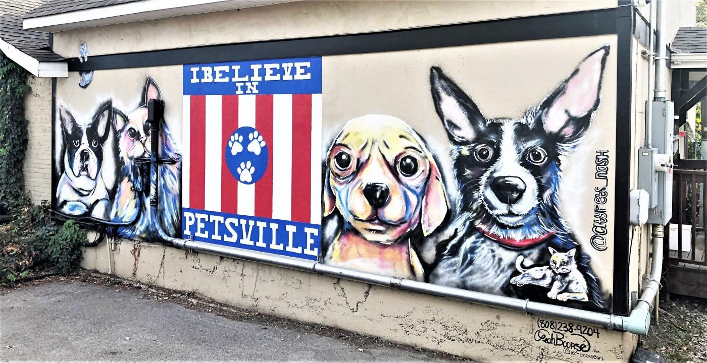 City Pets mural street art Nashville