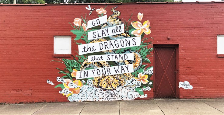 Dragons mural street art Nashville