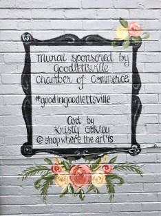 Goodlettsville Signature mural street art Nashville