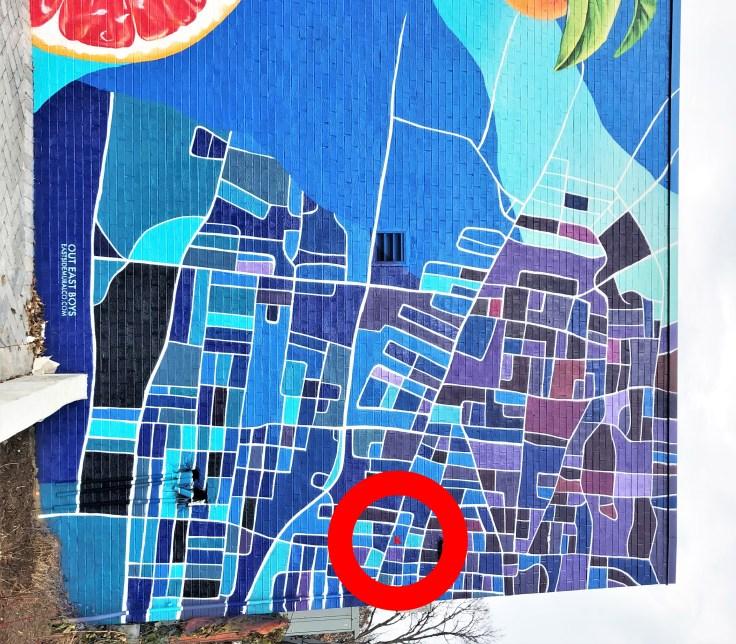 Eastland Kroger Map Mural street art Nashville