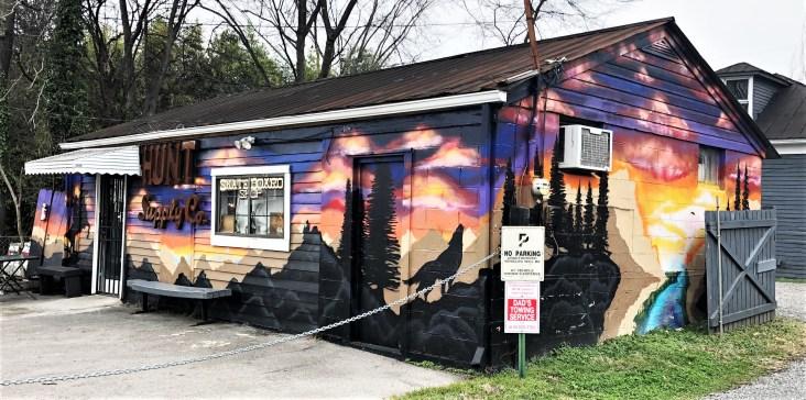Hunt Supply Mural street art Nashville