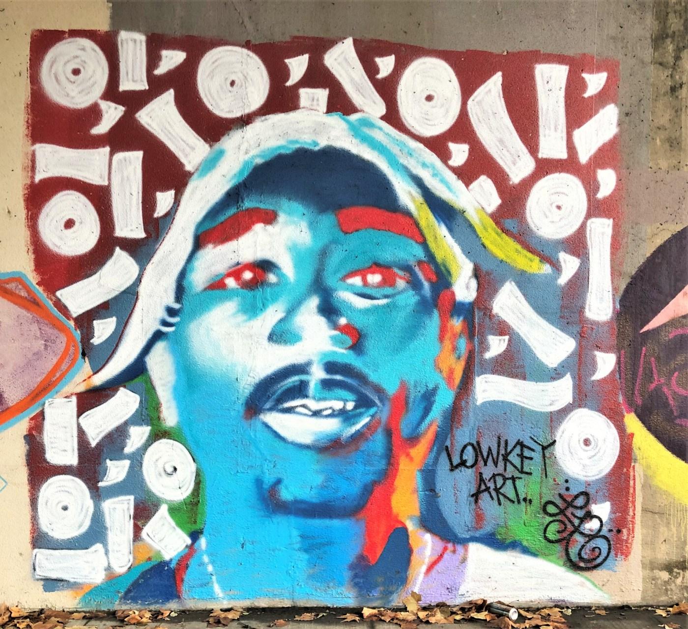 Tupac Shakur mural street art Nashville