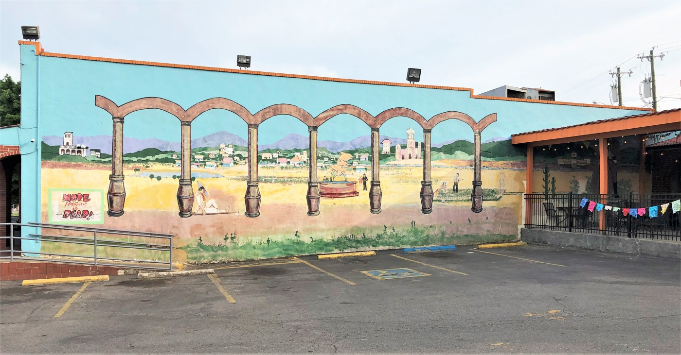 Hacienda Mural street art Nashville
