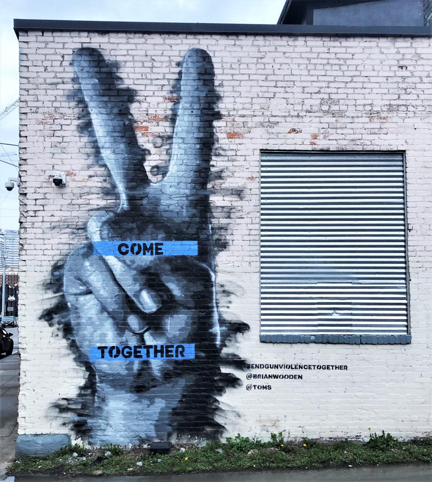 Come Together mural street art Nashville